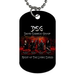 David Shankle 2 Sided Dog Tag and Chain 2 from Wordwide Merch Front