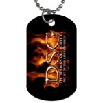 David Shankle 2 Sided Dog Tag and Chain 2 from Wordwide Merch Back