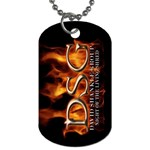 David Shankle 2 Sided Dog Tag and Chain 3 from Wordwide Merch Front