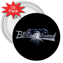 Black Diamond 3 Inch Buttons 10 Pack from Wordwide Merch Front