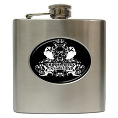 VQM Hip Flask (6 oz) from Wordwide Merch Front