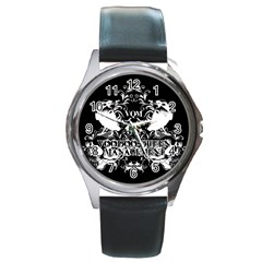 VQM Round Metal Watch from Wordwide Merch Front