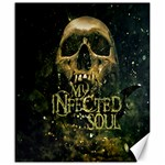 my infected soul skull print Canvas 20  x 24